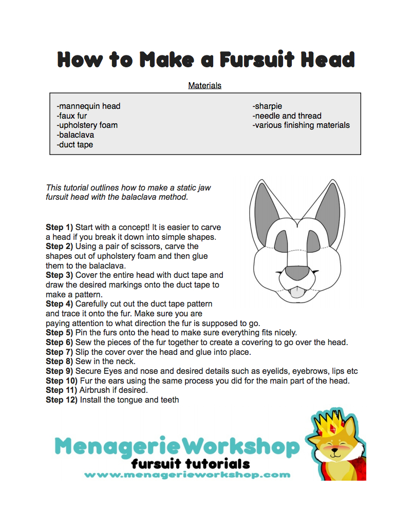 how to make fursuit head