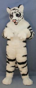 Cute tiger fursuit in menagerie workshop