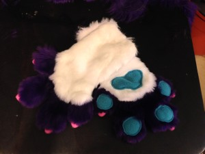 Menagerie workshop fursuit hand paws