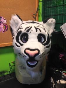 Bengalic white tiger fursuit mascot head