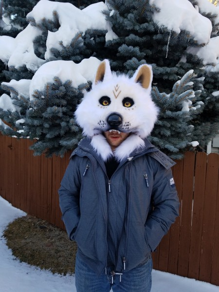 white wolf dance mask 2