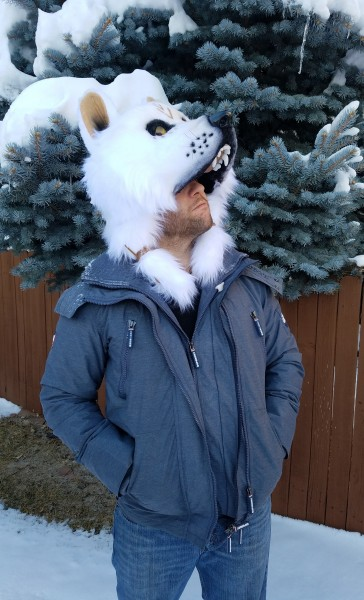 white wolf dance mask 3