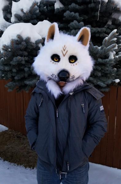 white wolf dance mask 4